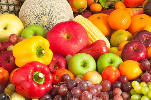 alimentação e frutas vermelhas